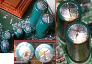 Изтекъл кондензатор